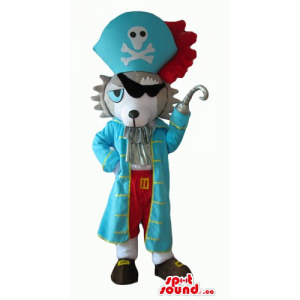 Pirate wolf blue costume...