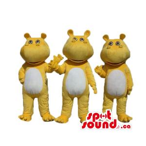 Happy Hippo Trio Mascot...