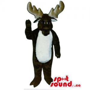 Dark Brown Moose Animal...