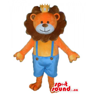 Baby Lion the King Mascot...
