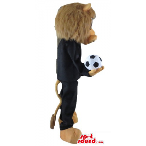 Football player Lion Mascot...