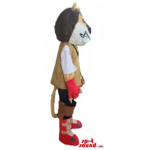 Fashion brown Kion Mascot...