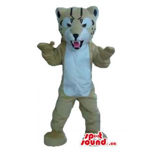 Ferosious gray Tiger Mascot...