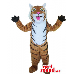 Happy giant Tiger Mascot...