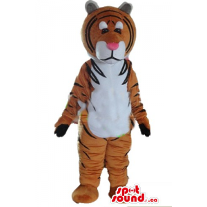 Unhappy giant Tiger Mascot...