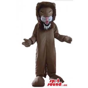 Dark brown Lion Mascot...