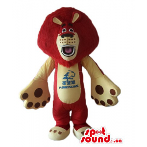 Red brown cream Lion Mascot...