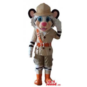 Fashion polar Tiger Mascot...