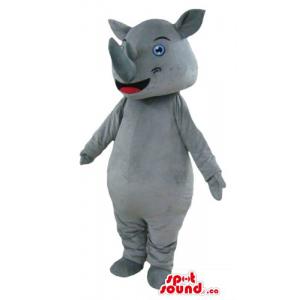 Giant Gray Rhino Mascot...