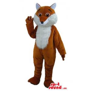 White and ginger Fox Mascot...