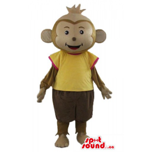 Brown baby Monkey Mascot...