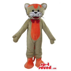 Funny gray and orange Mouse...