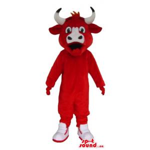 Red devil Bull Mascot...