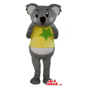 Koala bear Mascot in yellow...