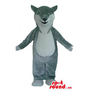 Kind gray Wolf Mascot costume wild animal fancy dress