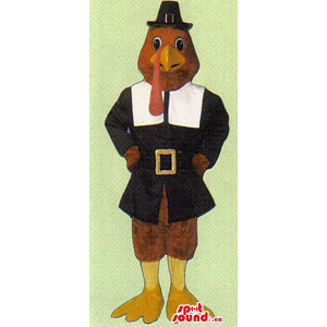 Red Turkey Mascot With...