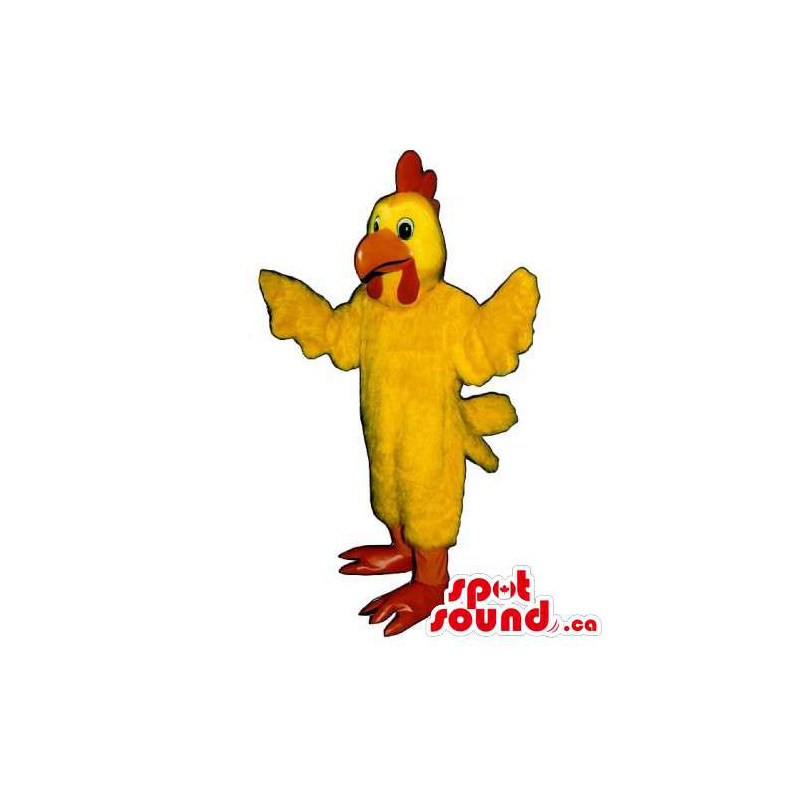 Mascota Gallo Amarillo Con...