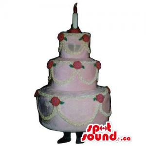 Customised Pink Cake Mascot...
