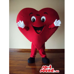 Red Heart Mascot With Arms...