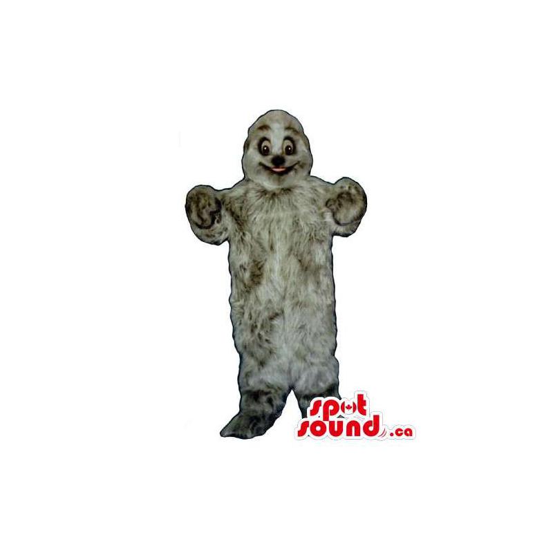 Mascota Monstruo Gris Y...