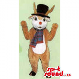 Reindeer Mascot With A...