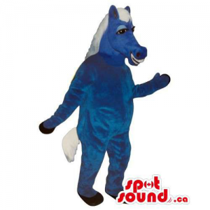 All Blue Donkey Mascot With...