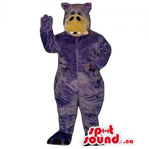 Purple Hippopotamus Animal...