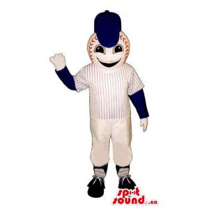 Baseball Mascot Dressed In...
