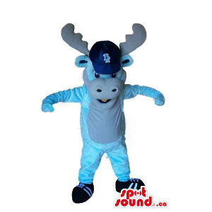 Blue Plush Reindeer Animal...