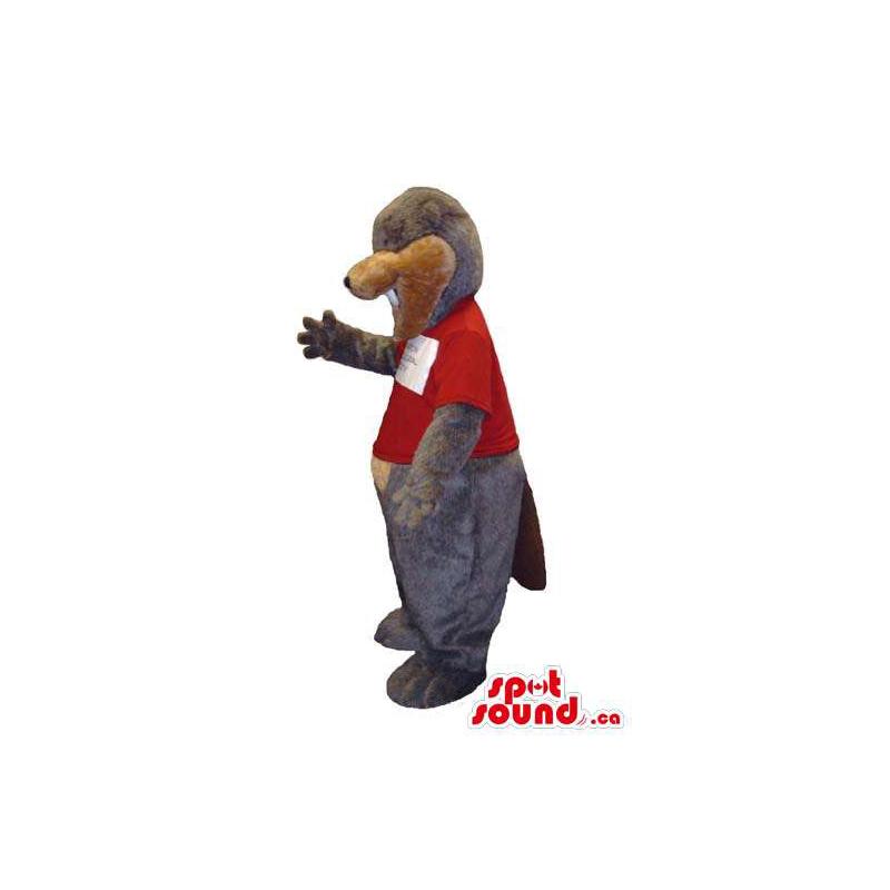 Mascota Nutria Gris Y...