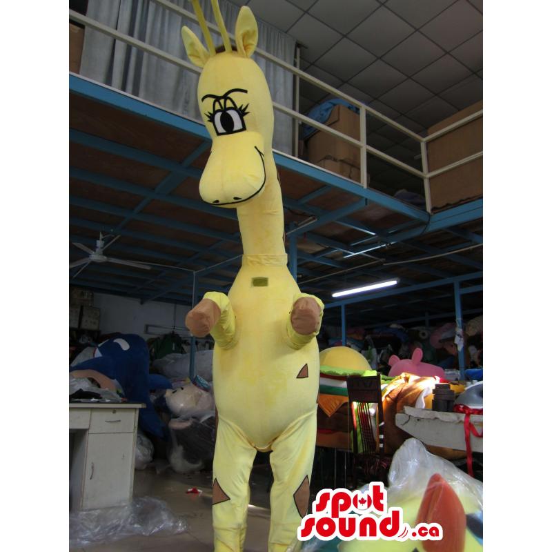 Mascota Jirafa Amarilla De...