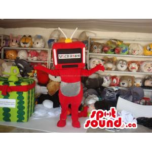 Customised Red Robot Plush...
