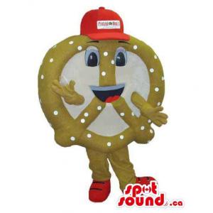 Pretzel Snack Food Mascot...