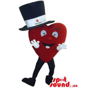 Red Large Heart Mascot...