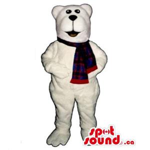 All White Polar Bear Mascot...