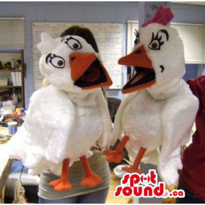 White Hen Plush Puppet...