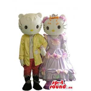 Kitty Couple Plush Mascot...