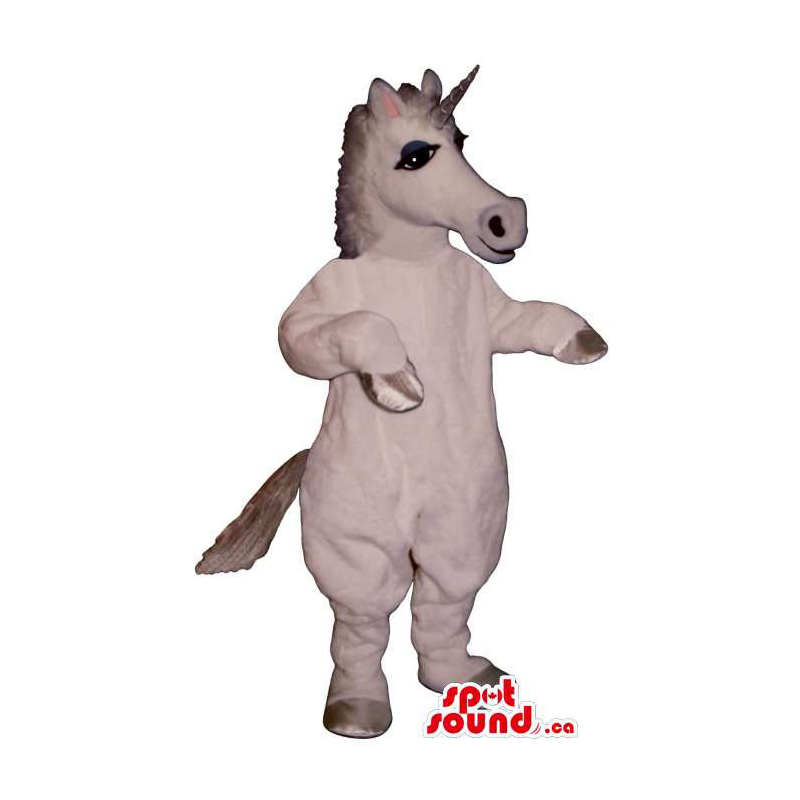 Mascota Unicornio Blanco...