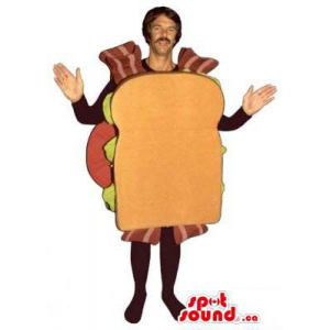 Large Sandwich Mascot Or...