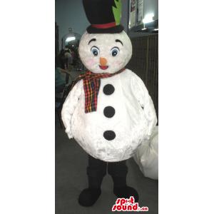 White Snowman Mascot With...