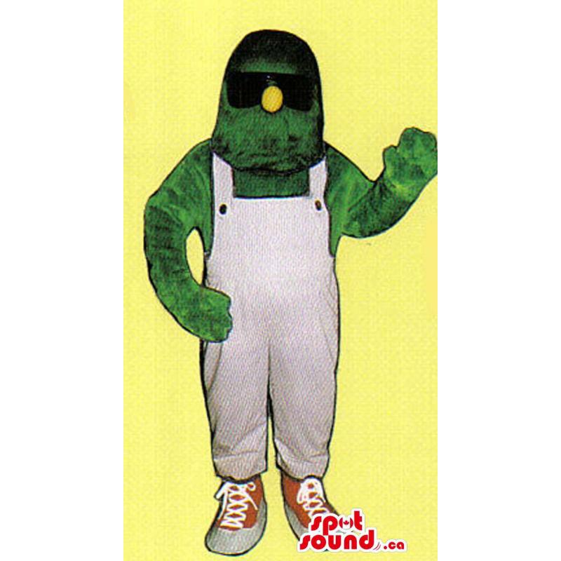 Mascota Monstruo Verde Con...