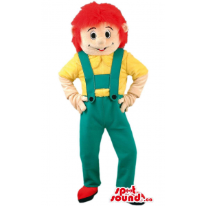 Boy Mascot With Red Hair...