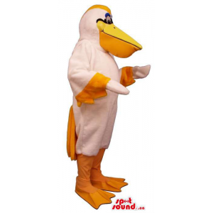 White Pelican Mascot With...