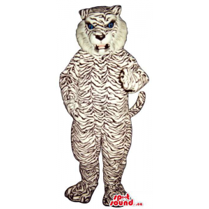 White Tiger Mascot With...