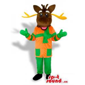 Dark Brown Reindeer Dressed...