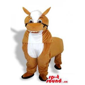 Brown Plush Donkey Mascot...