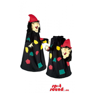 Witch Mascot With Black...