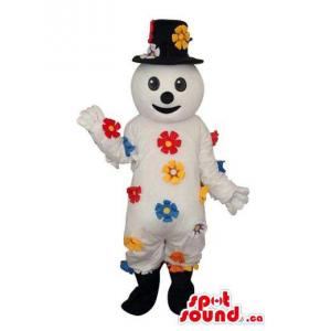 White Snowman Plush Mascot...