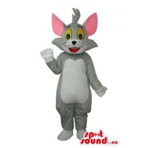 Tom Light Grey Cat Mascot...