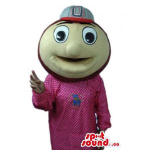 Round Beige Ball Mascot...